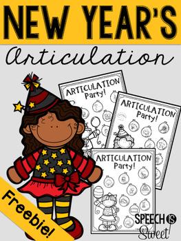 New Year's Articulation Freebie!