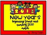 New Year's Beginning Sound & Ten Frame Match