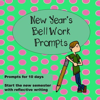 New Year's Bell Work Prompts