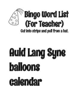 January New Year's Bingo Game