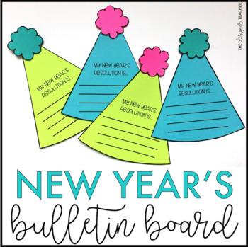 New Year 2021 January Bulletin Board Door Decor Craft By The Designer Teacher