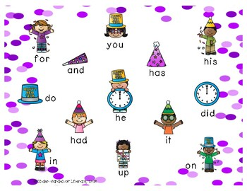 Sight Words New Year's Bump It