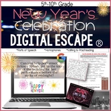 New Year's Celebration Digital Escape Ⓡ, Digital Escape Room, Parts of Speech