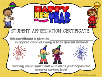 New Year's Certificate