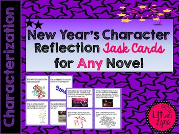New Year's Character Reflection Task Cards