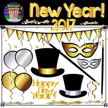 New Year's Clip Art Bundle