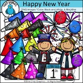 New Year's Clip Art Set - Chirp Graphics