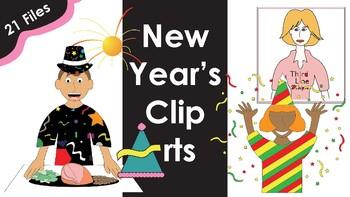 New Year's Clip Arts