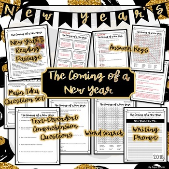 New Year's Close Reading & Activity Pack