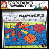 New Year's Color by Code Numbers 1-10 Activities