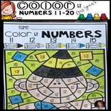 New Year's Color by Code Numbers 11-20 Activities