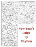 New Year's Color by Rhythm - 3 New Puzzles!