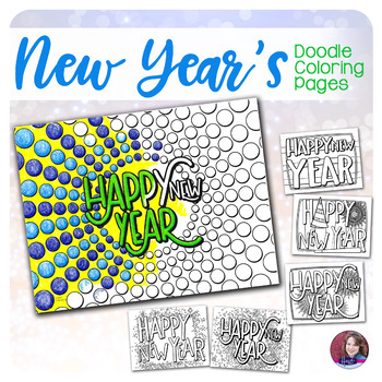 New Year's Coloring Activities