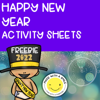 New Year's Coloring Sheets Freebie