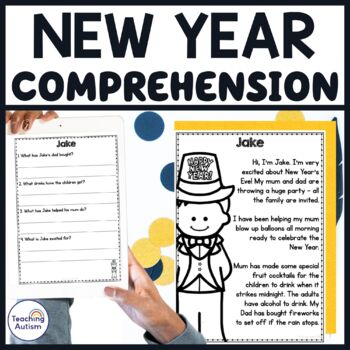 New Year's Comprehension Activity