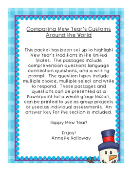 New Year's Comprehension Part 4 USA