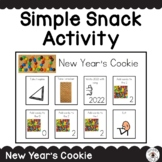 2019 Simple Snack Activity with Visual Directions New Year's Cookie