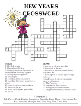 image regarding New Year Crossword Puzzle Printable identify Clean Calendar year Crosswords Printables Comparable Key phrases