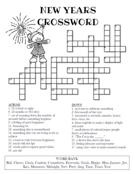 New Year's Crossword Puzzle