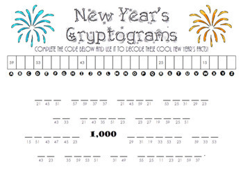 New Year's Cryptograms