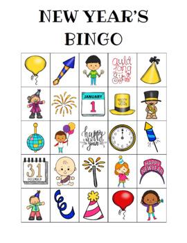 New Year's Bingo Custom Printables