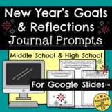 New Year's Daily Journal Writing Prompts Goals and Reflections Google Slides™