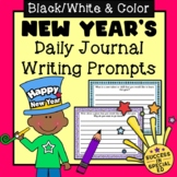 New Year's Daily Journal Writing Prompts for Upper Elementary