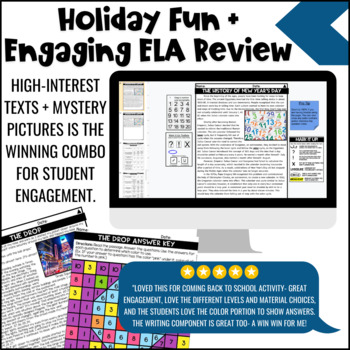 New Year's Day Reading Comprehension Passages | New Years Activities