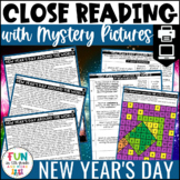 New Year's Day Close Reading Comprehension w/ Mystery Pict