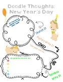 New Year's Day Doodle Thoughts Graphic Organizer
