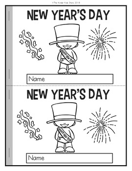 New Year's Day Emergent Reader
