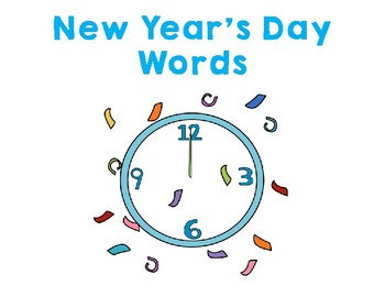 New Year's Day File Folder Word Wall