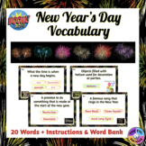 New Year's Day Vocabulary Boom Cards™ (Distance Learning)