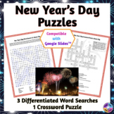 New Year's Day Word Search & Crossword Puzzles: Print & Pa