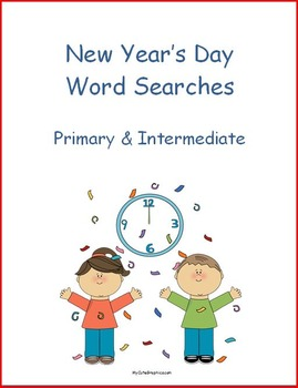 New Year's Day Word Search - Primary & Intermediate