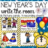 New Year's Day Write the Room - 16 cards four versions, four recording sheets