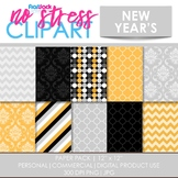 New Year's Digital Papers