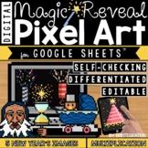New Year's Digital Pixel Art Magic Reveal MULTIPLICATION