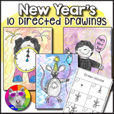 New Year's Directed Drawing