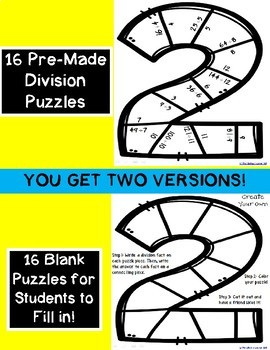 New Year's 2018 Division Puzzles