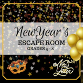 New Year's Escape Room -- Grades 4 - 8