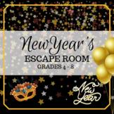 New Year's Escape Room -- Grades 4 - 8