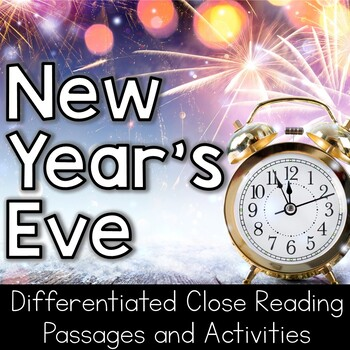 New Year's Eve Close Reading Packet