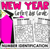 New Year's Eve Color-by-Number | Number Identification | C