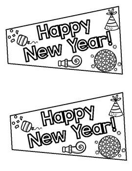 New Year's Eve Craftivity First, Second Third Grade