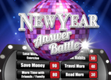 New Year's Eve Party Family Feud Trivia Powerpoint Game -