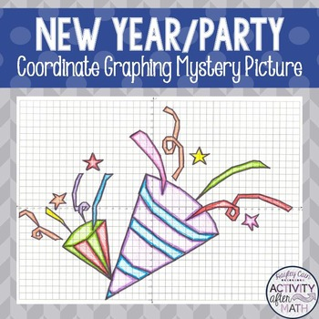 New Year's Eve Party Hats Coordinate Graphing Mystery Picture!