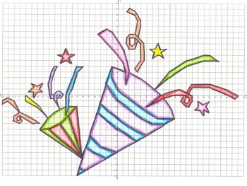 New Year's Eve Party Hats Coordinate Graphing Picture