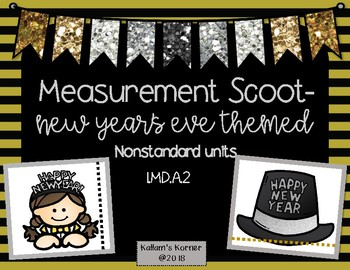 New Year's Eve Themed Measurement Scoot-Nonstandard Units