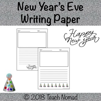 New Year's Eve Writing Paper